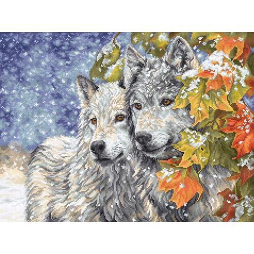 LETI 913 Cross stitch kit - Early snowfall