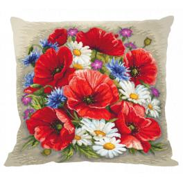 Cross stitch pattern - Pillow -Summer magic of flowers
