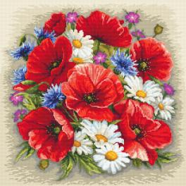 K 10634 Tapestry canvas - Summer magic of flowers