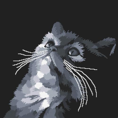 W 10638 ONLINE pattern pdf - Gray cat