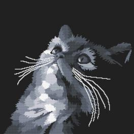 Cross stitch pattern - Gray cat