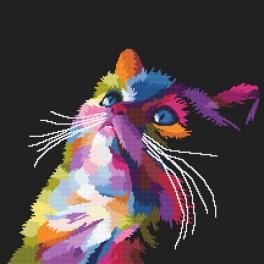 Cross stitch pattern - Colourful cat