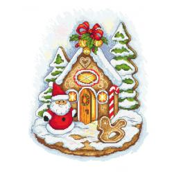 Cross stitch kit - Gingerbread hut