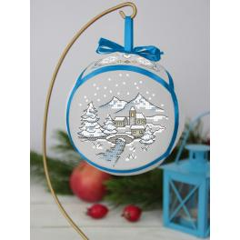 ZU 10291 Cross stitch kit - Christmas ball with a brigde
