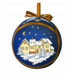 Pattern ONLINE pdf - Christmas ball with a town