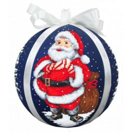 Pattern ONLINE pdf - Christmas ball with Santa Claus