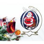 ZU 10641 Cross stitch kit - Christmas ball with Santa Claus