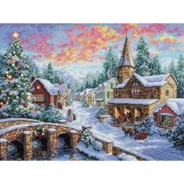 Cross stitch kit - Christmas village