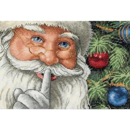 DIM 8799 Cross stitch kit - Santa's secret