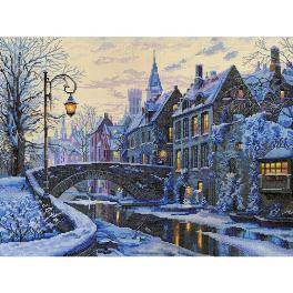 MER K-169 Cross stitch kit - Winter evening