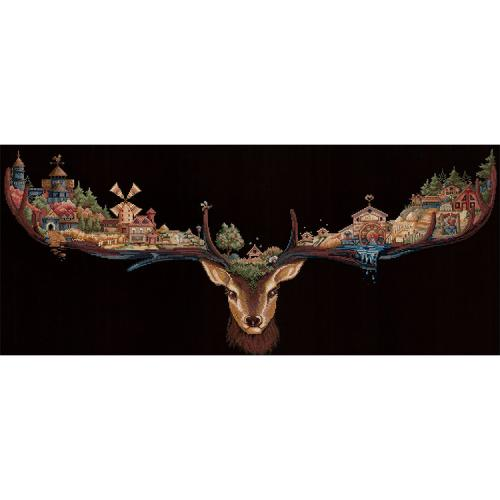SANO-21 Cross stitch kit - Deer land
