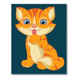 Painting by numbers kit - Kitten