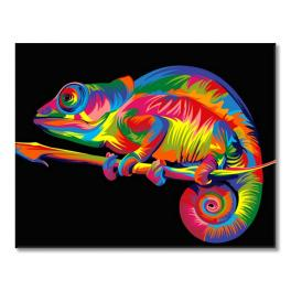 Painting by numbers kit - Chameleon