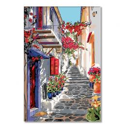 CZ RP35 Painting by numbers kit - Spanish street in flowers