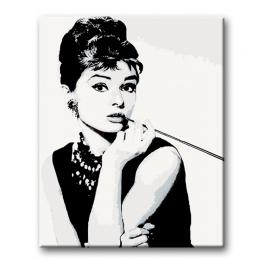 CZ AH321 Painting by numbers kit - Audrey Hepburn Cigarello