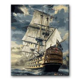 CZ 96447 Painting by numbers kit - Ship in a storm
