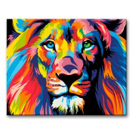 Painting by numbers kit - Colourful lion II