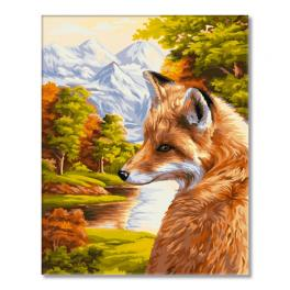 WD H055 Painting by numbers kit - Autumn fox