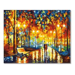 CZ 49171 Painting by numbers kit - Evening walk in the rain