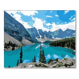 Painting by numbers kit - Mountain lake