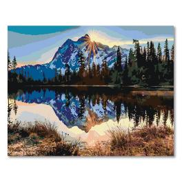 CZ 20016 Painting by numbers kit - Sunrise over the mountains