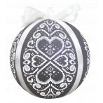 Cross stitch kit - Christmas ball with white arabesque