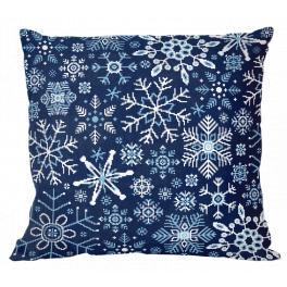 ONLINE pattern pdf - Pillow - Snowflakes