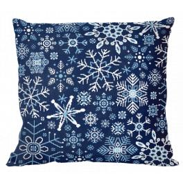 ZU 10644-01 Cross stitch kit - Pillow - Snowflakes