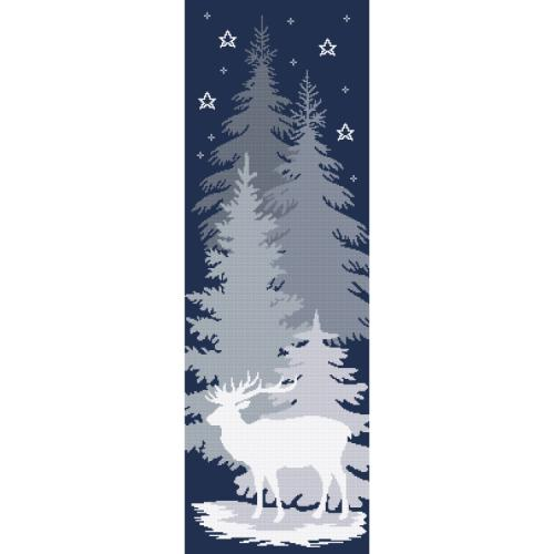 Cross stitch kit with tapestry - Snow deer
