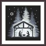 Cross stitch kit - Night in the stable