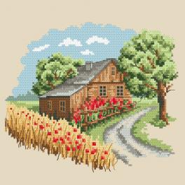 ZN 10295 Cross stitch kit with tapestry - Seasons - Sunny summer
