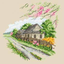 ZN 10294 Cross stitch kit with tapestry - Seasons - Colourful spring
