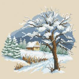 ZN 10297 Cross stitch kit with tapestry - Seasons - Beautiful winter