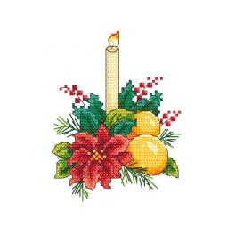 Cross stitch kit - Christmas table decoration