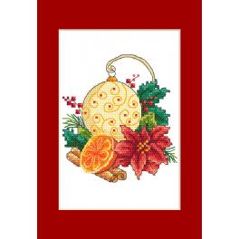 ZU 10299-01 Cross stitch kit - Card - Christmas ball