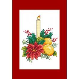 Cross stitch kit - Card - Christmas table decoration