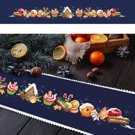 Cross stitch pattern - Long table winter runner