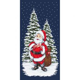ZN 10642 Cross stitch kit with tapestry - Winter Santa Claus