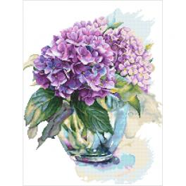 Cross stitch pattern - Watercolour hydrangea