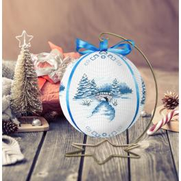 ZU 10301 Cross stitch kit - Christmas ball with a view