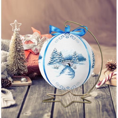 ZU 10301 Cross stitch kit - Christmas ball with a view