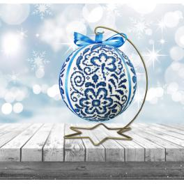 ZU 10640 Cross stitch kit - Porcelain Christmas ball