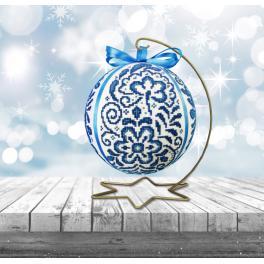 Cross stitch kit - Porcelain Christmas ball