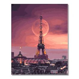 GX27959 Painting by numbers - Full moon in Paris