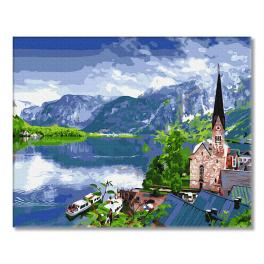GX33056 Painting by numbers - View of the mountain lake
