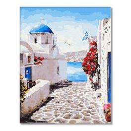 GX27704 Painting by numbers - Santorini street