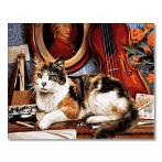GX4137 Painting by numbers - Cat and violin