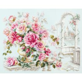 MN 110-011 Cross stitch kit - Roses for the Duchess