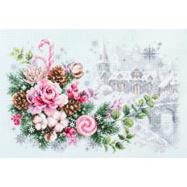 MN 100-244 Cross stitch kit - Christmas sentiment