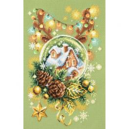 MN 100-245 Cross stitch kit - Light Christmas